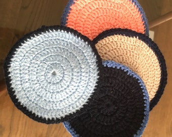 Handmade Crocheted Colourful Set of four Coasters