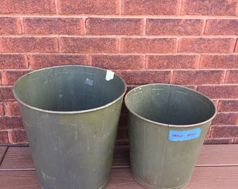 Industrial Wastebasket, Trash Can, Metal Can, School Garbage,
