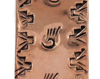 170 Retail Tag Bear Paw Navajo Authentic Handmade Made by Charlene Little Pure Copper Native American Nickel Money Clip 11267-12