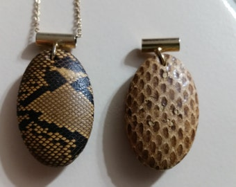 FREE U.S. SHIPPING-Unique Snake Skin and Lizard Skin Pendants