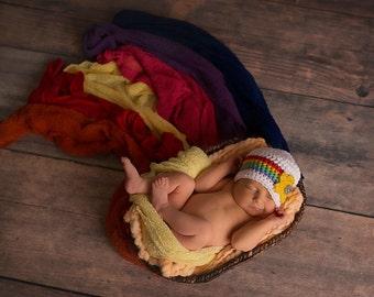 Newborn rainbow hat