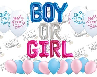 Boy or Girl Balloon Cluster Party Pack