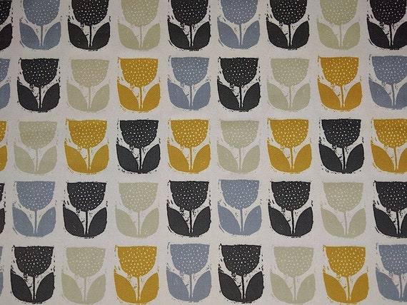new new new 0 5 yard oilcloth laminated cotton tablecloth 52 poppy in saffron from. Black Bedroom Furniture Sets. Home Design Ideas