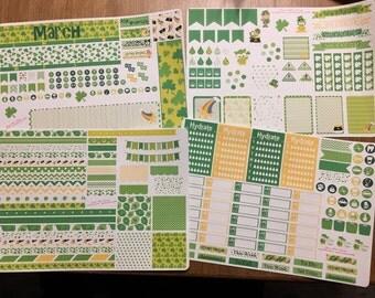 March full month kit sticker set for planner for erin condren, filifax scrapbooking, planner