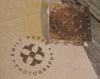 Custom Rubber Stamp- 1.5 x 1.5 inches
