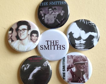 "The Smiths pin back buttons 1.25"" set of 6"
