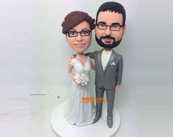 cake topper Wedding Cake Topper Wedding topper custom made bobblehead Cake toppers Custom bobble head Cake Toppers - CT  1258