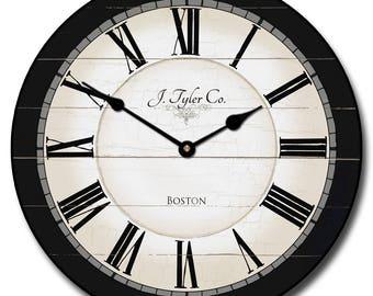 Carolina Black Wall Clock