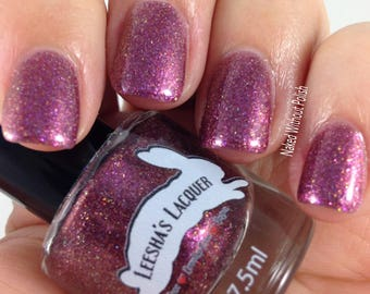 Plum Color Shifting Nail Polish, Purple and Gold Shifting Indie Nail Polish - Romanesque - Gothic Spring Collection