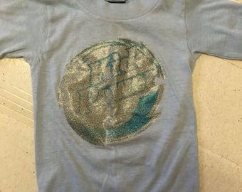 Vintage 1970s sparkle decal boys shirt 2T