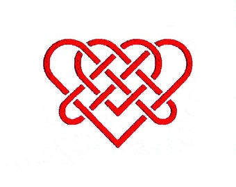 Celtic Knot Heart Embroidery Design