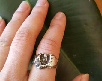 Silver tooth ring