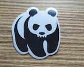 Panda Skull Clear Sticker, 100% Waterproof Vinyl Clear Sticker, Pop Culture Clear Sticker