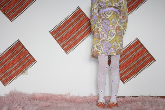 Girls Paisley Dress/Vintage dress/60s Inspired