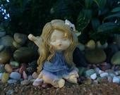 Little Yawning Fairy - Fairy Garden - Terrarium - Miniature Gardening - Craft Supply