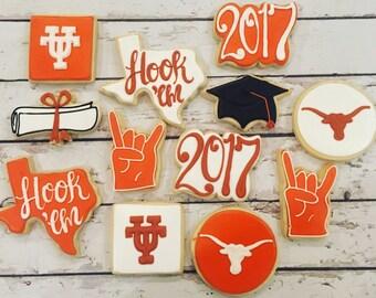 2017 UT graduation cookies