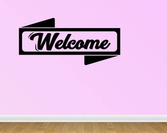Wall Decal Welcome Wall Decal Home Decor Home And Living Vinyl Wall Decal Home Wall Decor Living Room Deco (JP275)