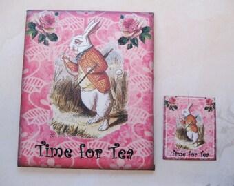 Tea/Seed Bag Envelopes - Alice In Wonderland - Time For Tea - Qty of 6 Envelopes