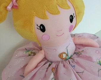 "Lottie - Large 18"" Fabric Doll - Fairy Fabric"