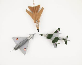 Your Choice - Three Different Jets - ERTL, Iowa - Collectible - Metal Diecast Toys - Militaria - Detailed - Movable - Realistic