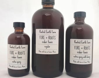 Fire and Roots Cider Tonic, Apple Cider Vinegar, immune booster, colds and flu, Fire Tonic, Cider Tonic, Oxymel, Fire, Cider, Fire Elixir