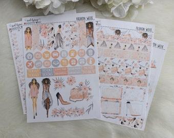 Fashion Week, Planner Stickers, Planner Supplies