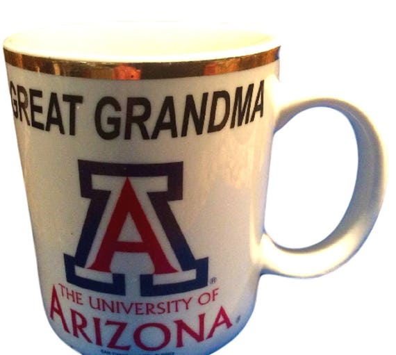 Mug For Grandma, Great Grandma Mug, University of Arizona, Porcelain Coffee Mug, Tucson U of A