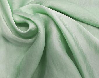 Mint Silky Satin Chiffon Fabric by the Yard - Style 455