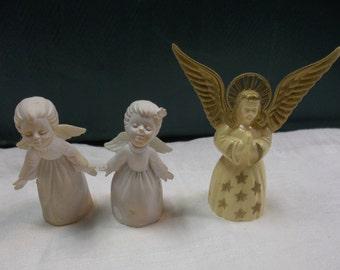 Vintage Plastic Angel Ornaments, T