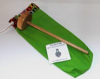 Drop Spindle Starter Kit - Green/Peace