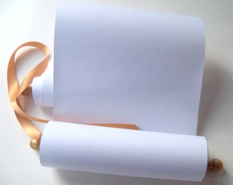 Blank scroll wedding vows scroll blank scroll for for 3 foot cardboard letters