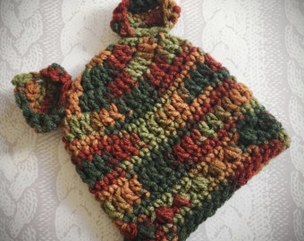 Autumn Colors Fox Ears Baby Infant Hat