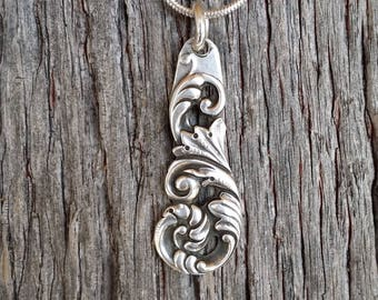 Sterling Demitasee Spoon Necklace Pendant