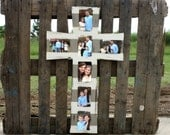 Cross Picture Frame, Wooden Frame, Wall Art, FINISHED Decor