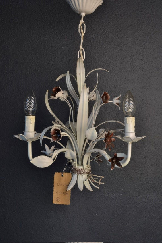 Metal tole Flower Chandelier