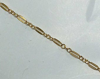 20 Feet 14K Gold Fill Double Bar Chain 2mm, Lariat Chain, 14K Bond Chain Dapped Chain, Designer Gold Filled Chains by Foot - GC384-20