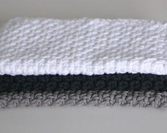 Crochet Wash Cloths 100% Cotton for Bath or Kitchen