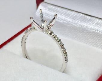 14kt White Gold Diamond Semi-Mounted Ring
