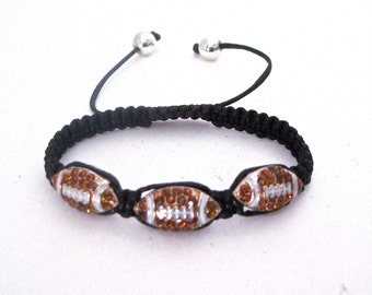 Football breaded bracelet.