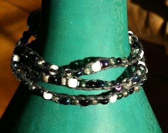 3 Layer Wrap-around Bracelet, Multicolor