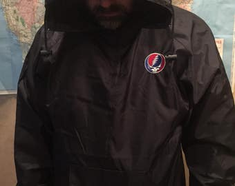 Grateful Dead pack away nylon embroidered jacket