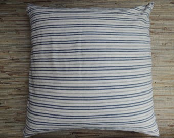Blue Tan Pillow Etsy