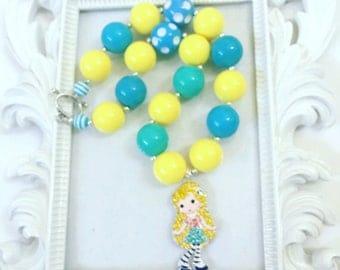 Goldilock Chunky Necklace, Goldilock Beaded Necklace, Goldilock Gumball Necklace, Goldilock Accessories, Goldilock Rhinestone  Pendant,
