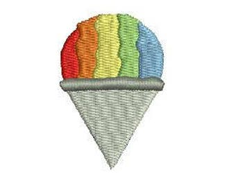 Shaved Ice Snow Cone Mini Fill Gourmet Ice Cream Popsicles Summer Digital  Design File Boy  Girl Cute Embroidery Machine