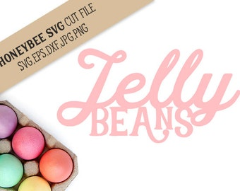 Jelly Beans cut file svg eps dxf jpg png for Silhouette and Cricut style cutting machines