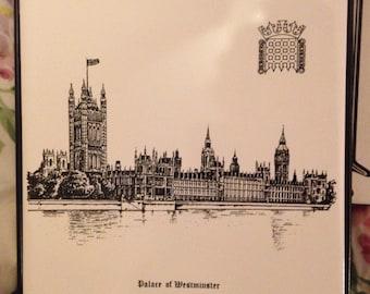 Dorincourt Tiles Palace of Westminster Teapot Trivet