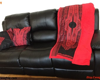 Deco KIT: Two cushions one thrown decorative