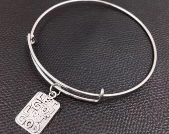 Let Go! Let God bracelet