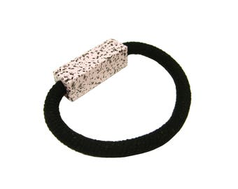 Speckled Geometric Block Bracelet - Pastel Petal Pink
