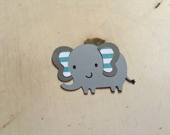 Scrapbook Embellishments, Elephant Die Cut - Set of 4